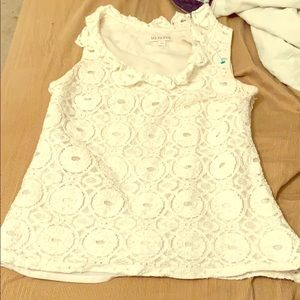 Merona white lace top